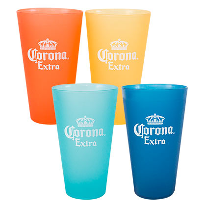 Buy Official CORONA EXTRA Multi Colored Plastic Cup Set