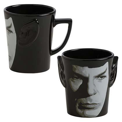 58024de0544 Official STAR TREK Spock Ears Black Coffee Mug: Buy Online on Offer