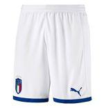 2018-2019 Italy Puma Home Shorts (White) - Kids
