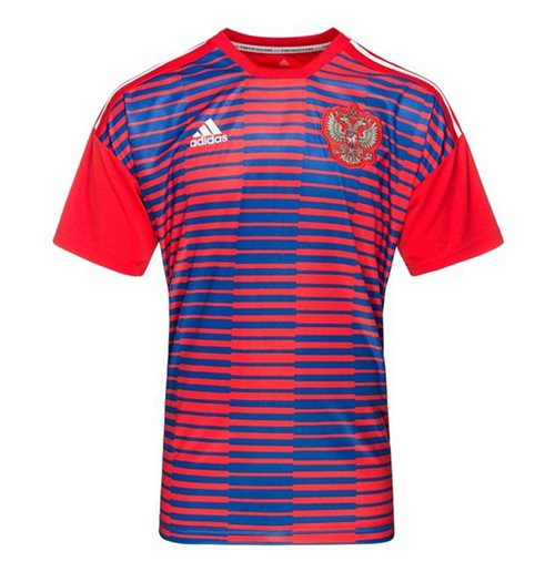 f19a0c945b Buy Official 2018-2019 Russia Adidas Pre-Match Shirt (Red)