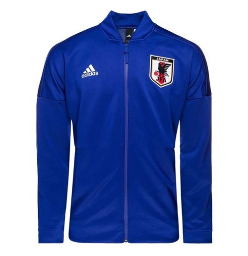 2018-2019 Japan Adidas ZNE Knitted Anthem Jacket (Blue)