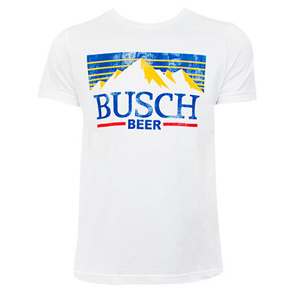 BUSCH Retro Logo White Tee Shirt