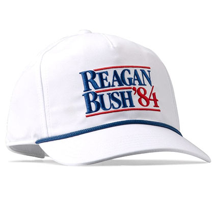 Reagan Bush '84 White Snapback Hat