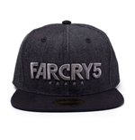 FAR CRY 5 Embroidered Logo Denim Snapback Baseball Cap, Black