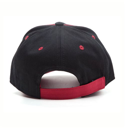 GOD OF WAR Logo Print Curved Bill Cap, Black/Red