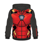 MARVEL COMICS Iron Man Men's Sublimation Full Length Zipper Hoodie, Extra Large, Multi-colour