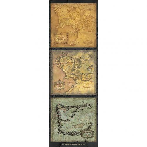 The Lord Of The Rings Door Poster Maps 311