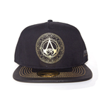 ASSASSIN'S CREED Origins Gold Crest Logo Adjustable Cap, Black/Gold