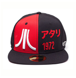 ATARI Embroidered Bi-colour Japanese 1972 Snapback Baseball Cap, Black/Red