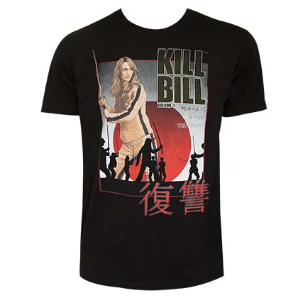 KILL BILL Movie Poster Men's Black T-Shirt