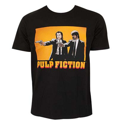 PULP FICTION Guns Mens Black T-Shirt