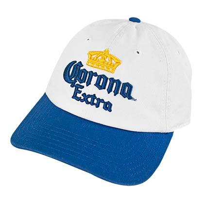 f89e20064c5d2 CORONA EXTRA Cerveza Classic White Blue Baseball Hat