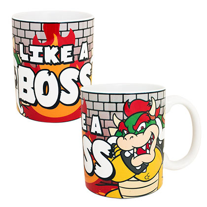 Super MARIO Bros. Bowser Like A Boss 11oz Coffee Tea Mug