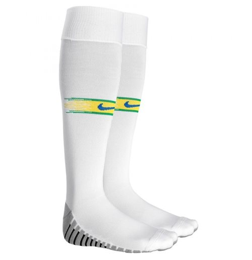 2018-2019 Brazil Nike Home Socks (White)
