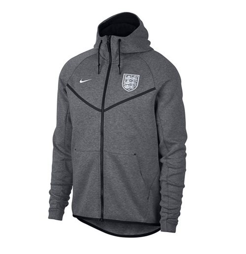 2018-2019 England Nike Authentic Tech Fleece Windrunner Jacket (Carbon)