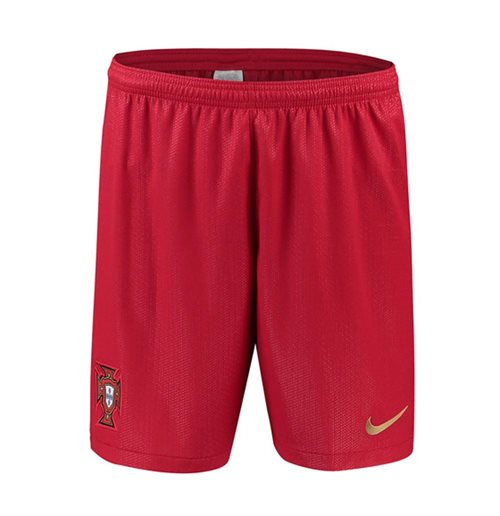 2018-2019 Portugal Nike Home Shorts (Red) - Kids