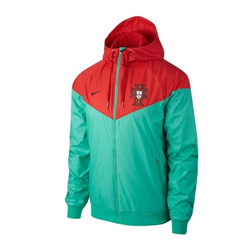 2018 2019 Portugal Nike Authentic Woven Windrunner Jacket (Green)