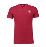 2018-2019 Portugal Nike Authentic Polo Shirt (Red)