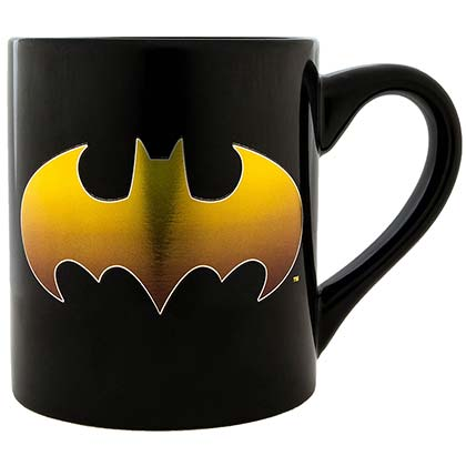 BATMAN Gold Bat Logo Black 14oz Mug