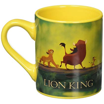 LION KING Hakuna Matata Simba 14oz Ceramic Yellow Mug