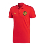 2018-2019 Belgium Adidas 3S Polo Shirt (Red)