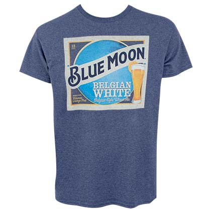 BLUE MOON Belgian White Beer Label Men's Blue T-Shirt