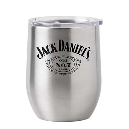 Jack Daniel's 16oz Stainless Steel Metal Tumbler Cup With Lid