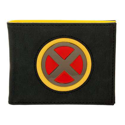 X-MEN Superhero Metal Logo Black Mens Wallet