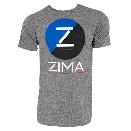 ZIMA Clearmalt Logo Retro Brand Men's Gray TShirt
