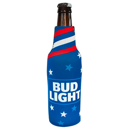 BUD LIGHT Patriotic USA Bottle Cooler