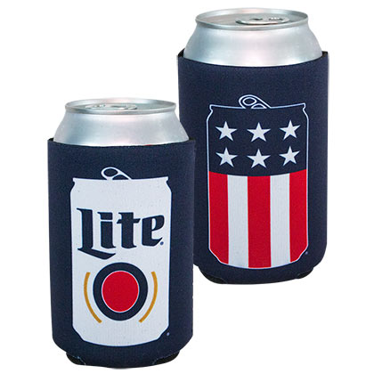 MILLER Lite Patriotic USA Can Cooler