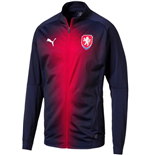 2018-2019 Czech Republic Puma Stadium Jacket (Peacot)