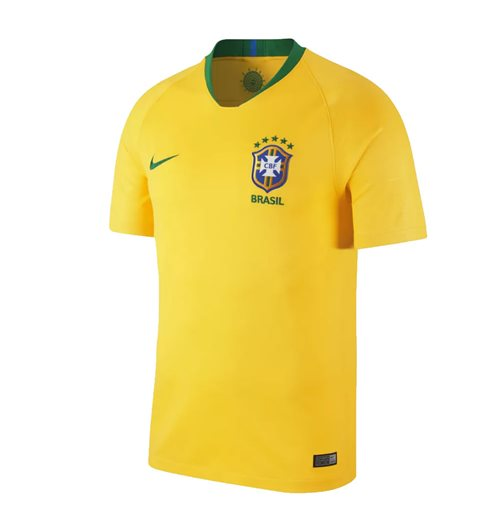 2018-2019 Brazil Home Nike Football Shirt