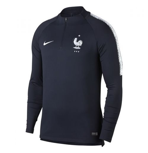 2018-2019 France Nike Training Drill Top (Obsidian) - Kids