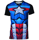 Marvel Sublimation T-Shirt Captain America