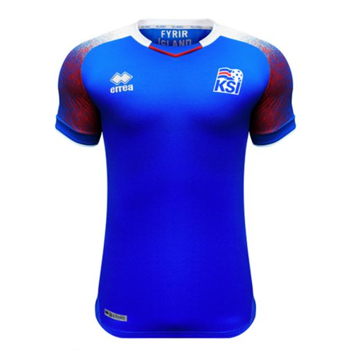 2018-2019 Iceland Home Errea Football Shirt