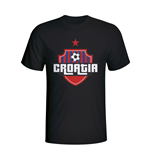 Croatia Country Logo T-shirt (black)