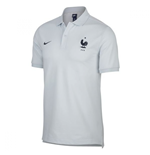 2018-2019 France Nike Core Polo Shirt (Pure Platinum)