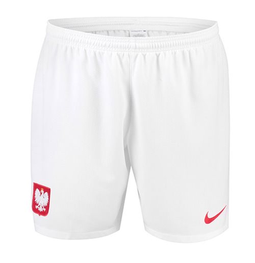 2018-2019 Poland Nike Home Shorts (White)