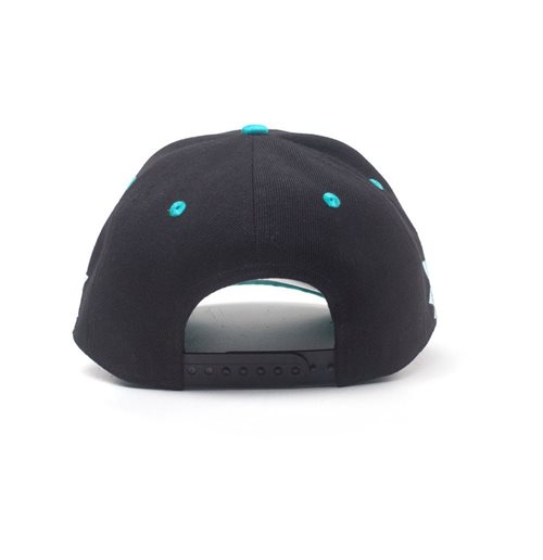 RICK AND MORTY Embroidered Get Schwifty Curved Bill Cap, Black/Turquoise