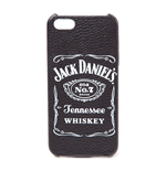 JACK DANIEL'S Old No.7 Brand Logo Leather Phone Cover for Samsung S6, Black