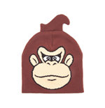 NINTENDO Donkey Kong Face Cuffless Beanie, One Size, Brown