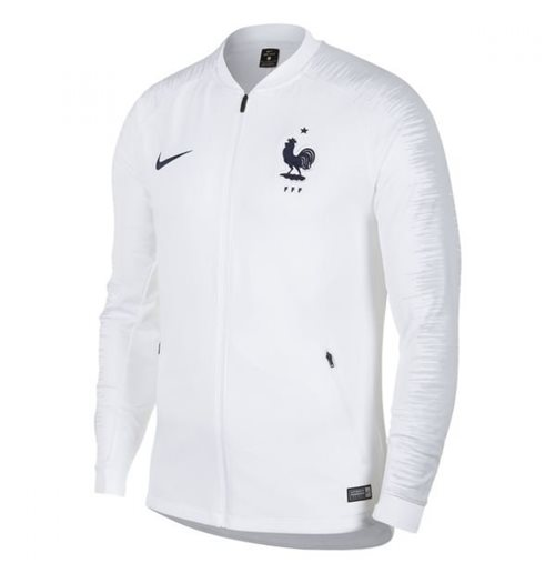 2018-2019 France Nike Anthem Jacket (White) - Kids
