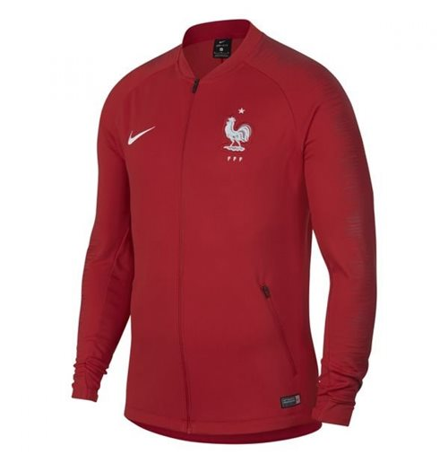 2018-2019 France Nike Anthem Jacket (Red)