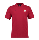2018-2019 Poland Nike Core Pique Polo Shirt (Red)