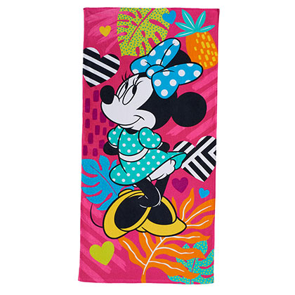DISNEY Minnie Mouse Pink 28x58 Beach Towel