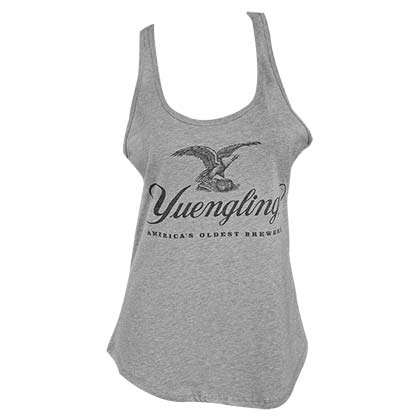 YUENGLING Eagle Logo Women's Racer Back Ash Gray Tank Top