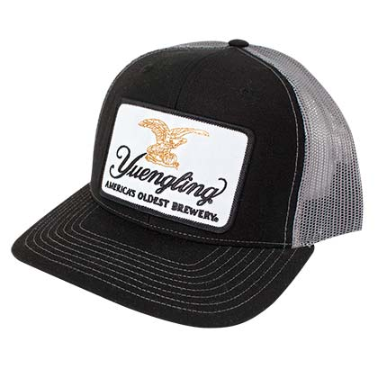 YUENGLING Beer Patch Men's Mesh Black Trucker Hat