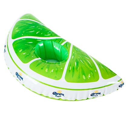 Corona Lime Wedge Inflatable Floating Can Holder For Pool