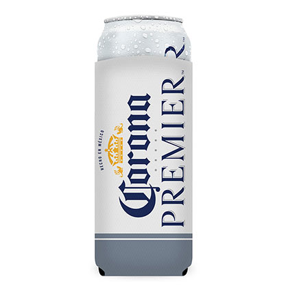 Corona Premier 24oz White Insulator Can Cooler